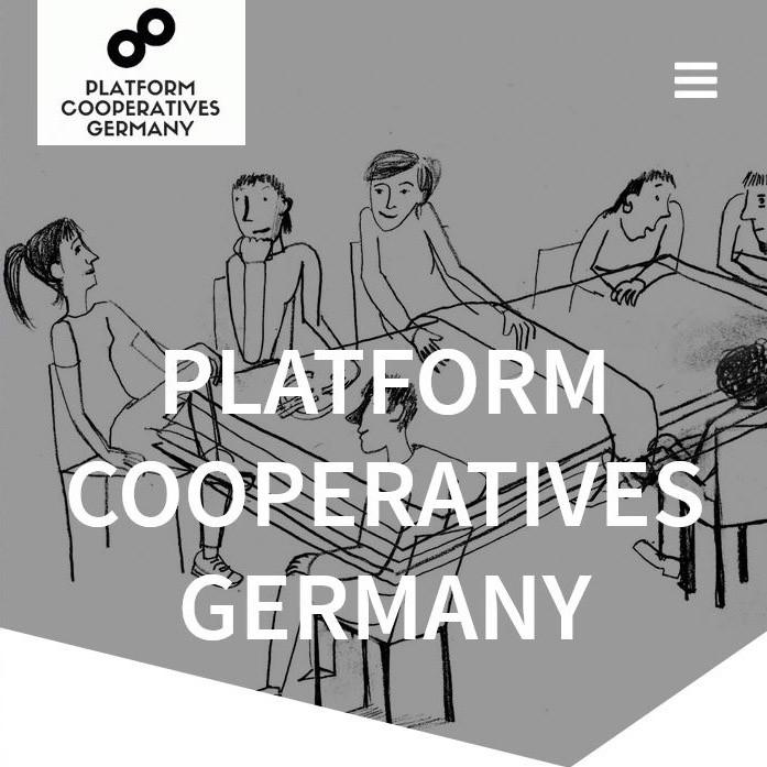 Eine Webseite für Platform Cooperatives Germany