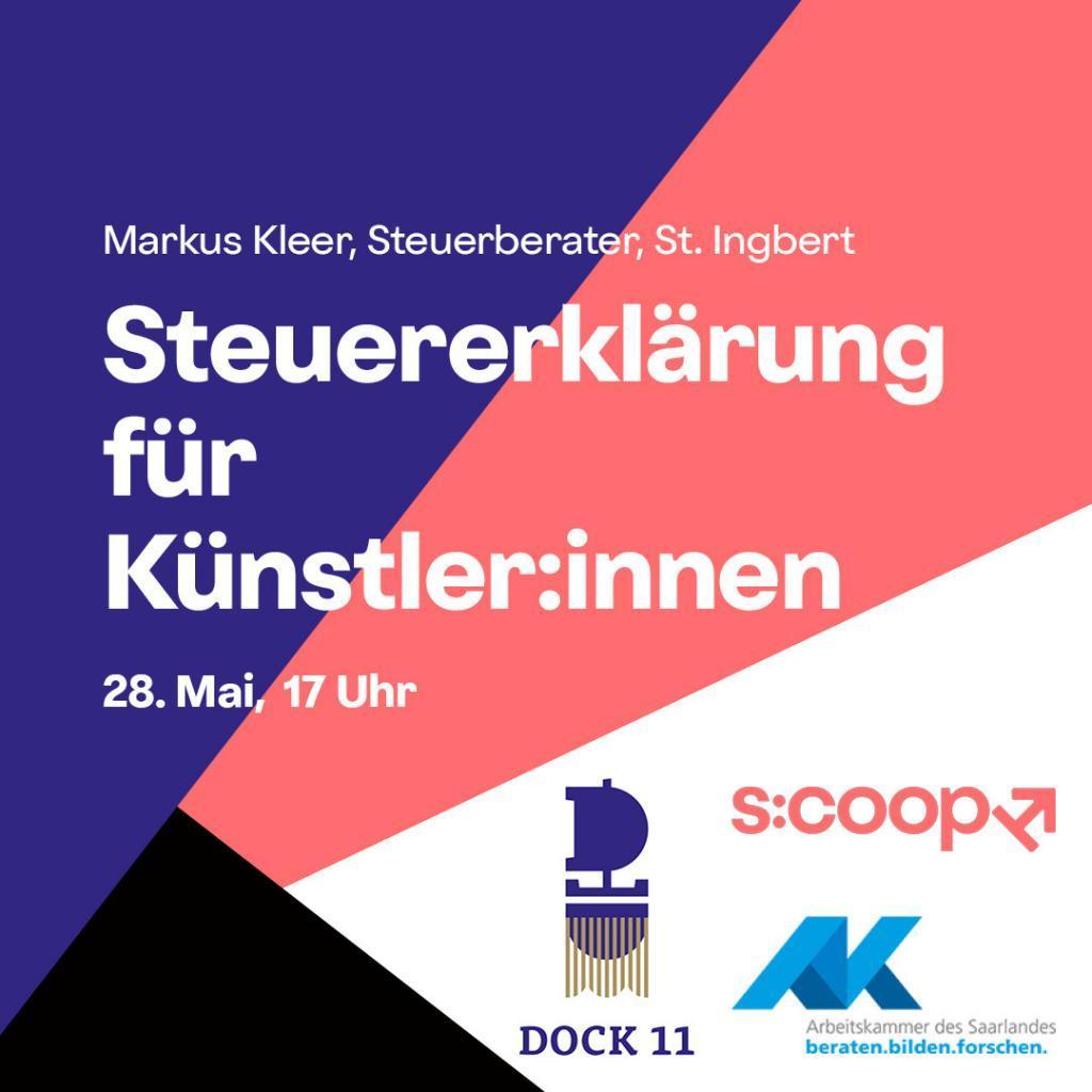 Online-Workshop »Steuererklärung für Künstler:innen« - s:coop